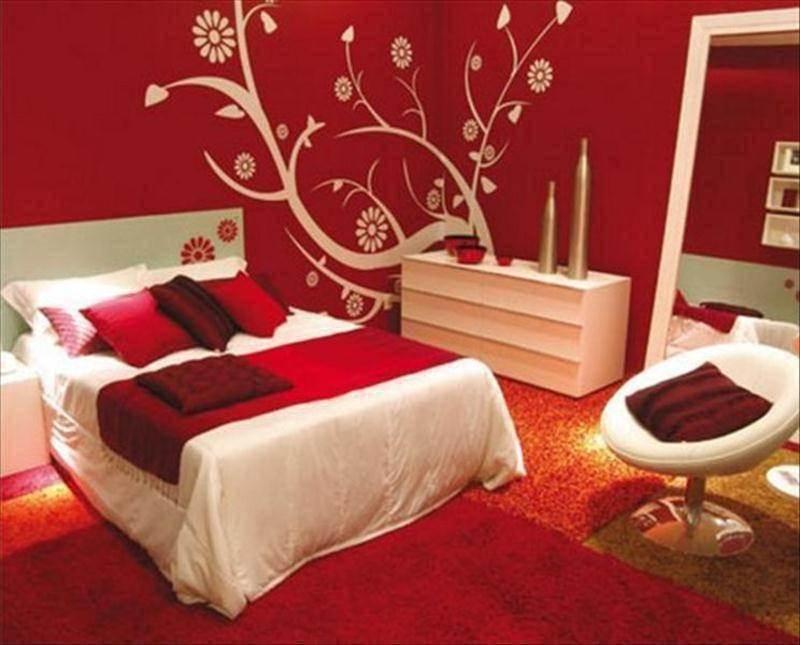 Спальни красные фото