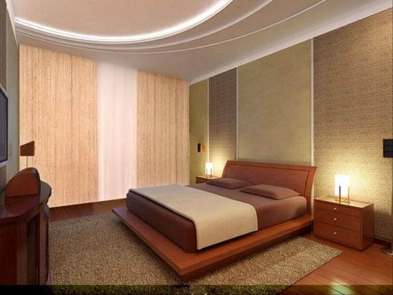 Комбинирование обоев в интерьере спальни